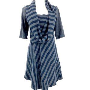 """Prairie Underground: blue/gray """"orbit"""" dress"""